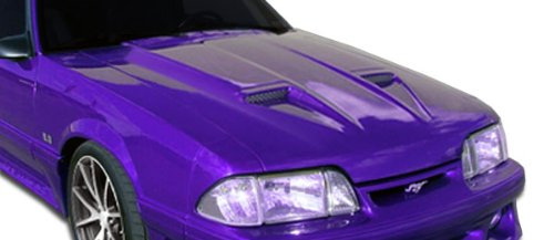Duraflex ED-NHF-666 Mach1 Hood - 1 Piece Body Kit - Fits Ford Mustang 1987-1993