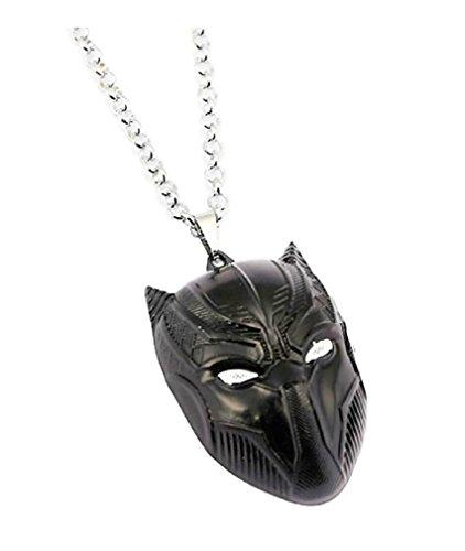 Marvel's Black Panther Mask Logo Pendant Necklace]()