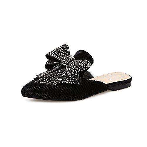 rimorchio suo le punta Black KPHY scarpe a semi 35 nero inchinatevi 37 agio scarpe basse baotou YzggwqA