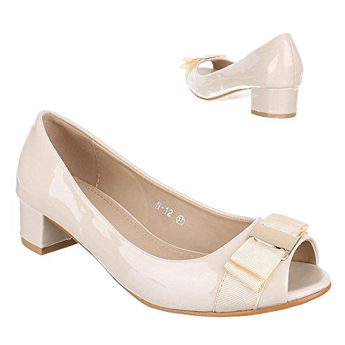 Ital-Design - Zapatos de vestir de Material Sintético para mujer Beige - beige