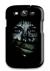 Rugged Skin Case Cover For Galaxy S3- Eco-friendly Packaging(scary)