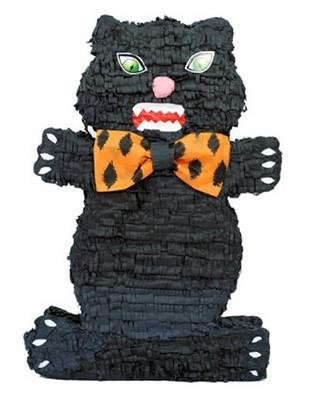 Halloween Cat Pinata, Black, 21