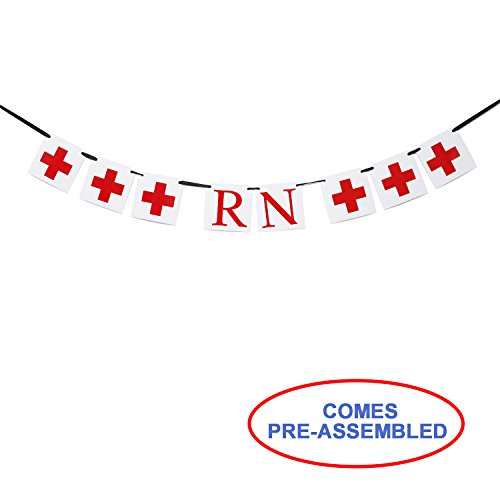 RN Banner - Nurse Banner - Nurses Graduation Party Decorations - RN Gifts - Nurse Retirement Ideas - Medical School Hospital Party Decorations by Partyprops
