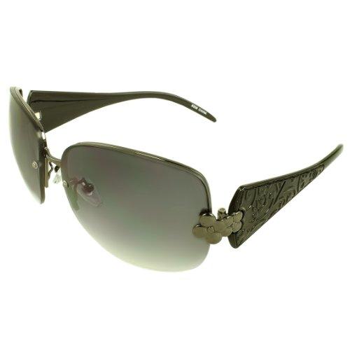 MLC EYEWEAR ® TU9308-BKPB Rimless Fashion Sunglasses Black Frame Purple Black - Jacobs Michael Sunglasses