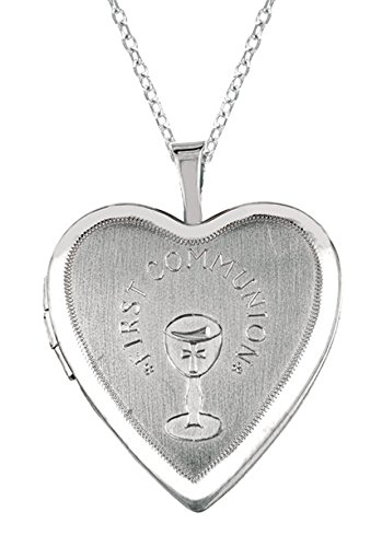 Memento Lockets SS 0.01 TDW Diamond Heart Shaped Locket Necklace (G-H, I1-I2) (Diamond I1 Necklace)