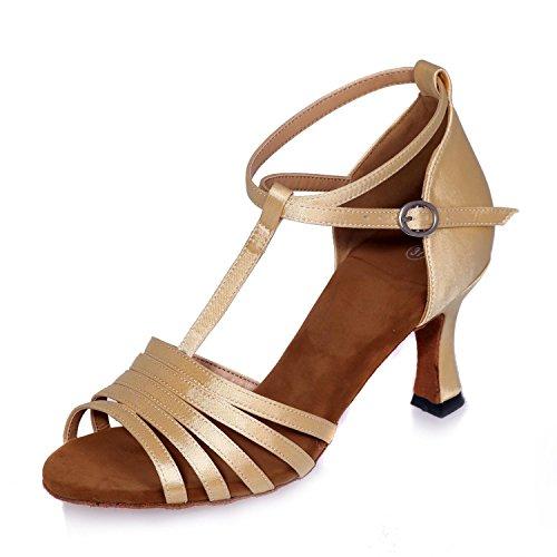 Moderne de gold Taille Couleur Chaussures L Danse Toe Exposés Haut Standard Grande soleil Talons Lunettes YC Multi Jazz Femmes Personnalisée HfA1AwI0