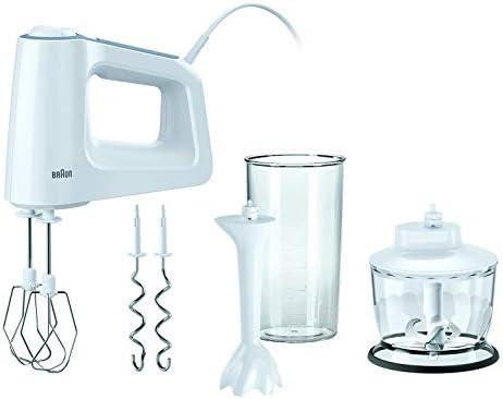 Braun HM 3135 MultiMix 3 Sbattitore Elettrico, Mini Frullatore, Mixer ad Immersione per Smoothie, 500 W, Plastica, Bianco
