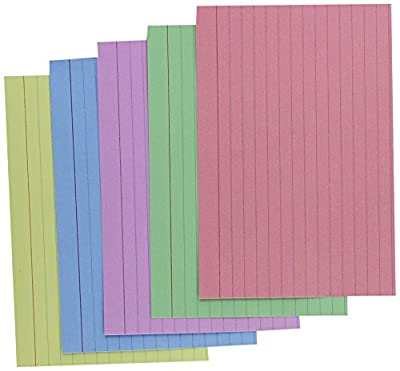 Index Cards 4 x 6 Blue/Salmon/Green/Cherry/Canary 100/Pack