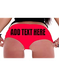 | Custom Panties - Girlfriend Gifts - Create Your Own Booty Shorts ADD Your OWN Text Boyshort Panties