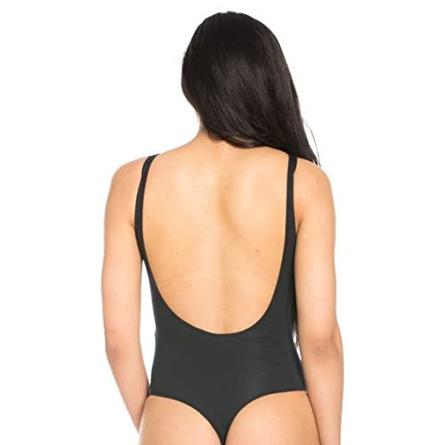 hot sale 2017 Basic Open Back Thong Bodysuit in Black (Plus size available) d456344d8