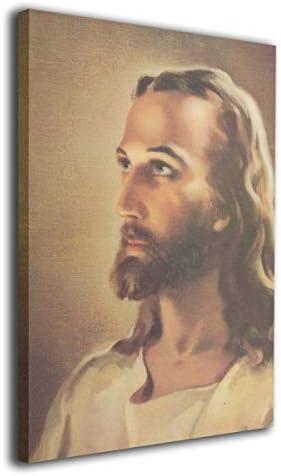 DJIANRONG キリストカトリックの頭 アート アートパネル 壁飾り 絵画 壁掛け ポスター 写真 インテリア フレーム ア