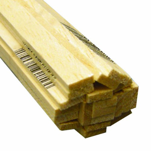 Cork Roadbed Strips - Midwest Products 6048 Micro-Cut Quality Balsa 36 Inch Strip Bundle, 0.125 x 0.375 Inches