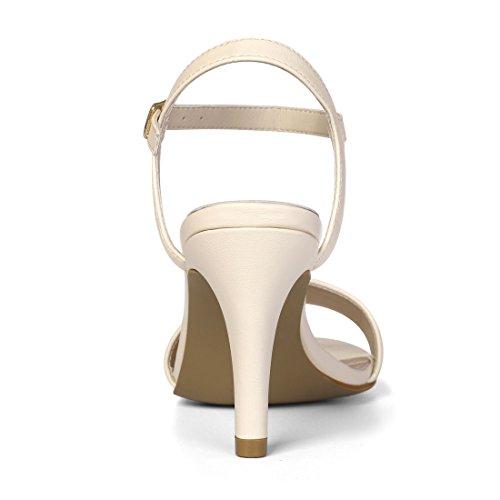 Ankle K Open Sandals Allegra Women Dress Stiletto Toe Strap Beige Heel Yd7qA