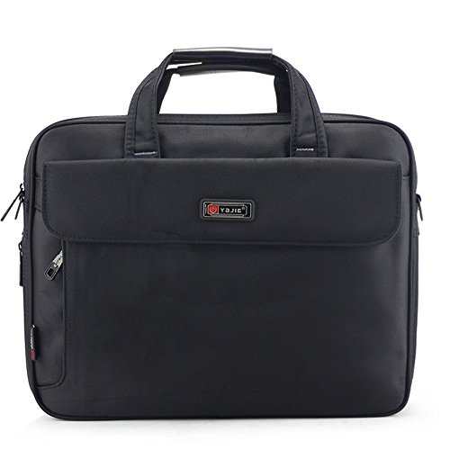 Wewod Bolsa de Ordenador Portátil 16 Pulgadas,Maletín Portadocumentos Hombre,Bolso al Hombro de Oxford Tela Gruesa 39.5 x 30 x 10 cm (L*H*W) (Negro) Negro