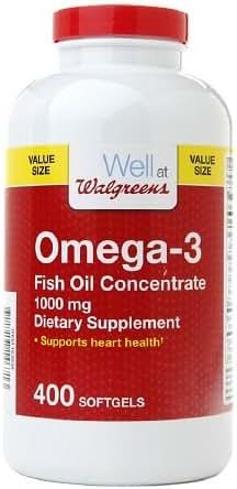 Walgreens Omega-3 Fish Oil 1000 mg, Softgels 400 ea by AB