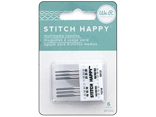 We R Memory Keepers We R Memory Stitch Machine 18/21 6pc Sth Happy Needles