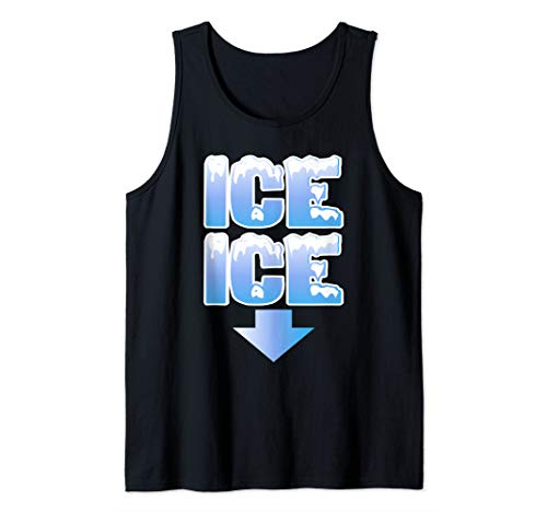 (Ice Ice Arrow Pregnancy and Baby Announcement Winter Art Tank Top)