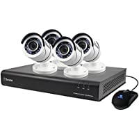 Swann 1080p Digital Video Recorder with 4  PRO-T855 Cameras Surveillance Camera, White/Black (SWDVK-845004-US)