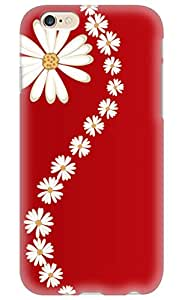 Simply Case Designs White Daisies with Red Background Design PC Material Hard Case for iphone 6 4.7""