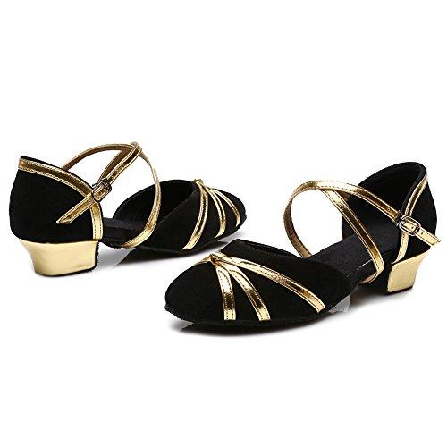Performance amp;Women's Ballroom Model UK306 Shoes Girls Black Salsa Shoes Dance Latin Standard YKXLM 5x068qw