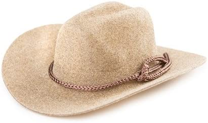 31322fb4f2f Amazon.com  Better Crafts COWBOY HAT WITH ROPE TRIM FELT BROWN 3IN 1PC (12  pack) (012732-2500)
