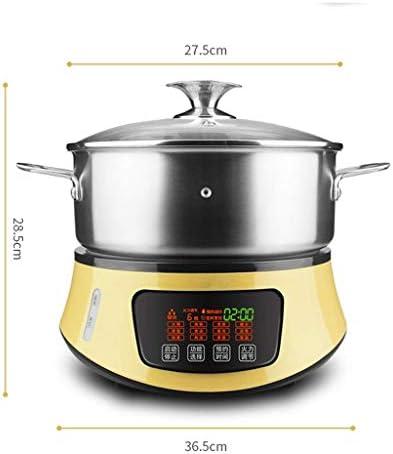XXDTG Multifonctionnel électrique à Vapeur ménages Vapeur Hot Pot de Grande capacité en Acier Inoxydable 304 électrique Hot Pot Sauna Pot