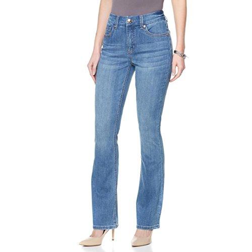 Melissa Zip (Melissa McCarthy Seven7 Stretch Slim Boot-Cut Jean Zip Fly Tyler 12 New 461-792)