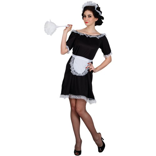 CLASSIC FRENCH MAID - BUDGET LADIES COSTUME FANCY DRESS UP PARTY (French Maid Party)