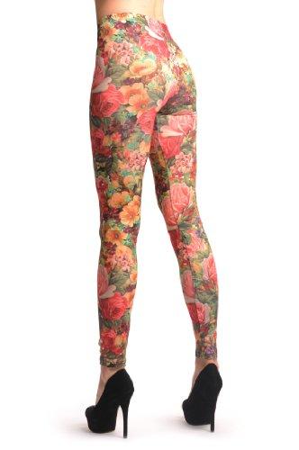 Roses Bouquet Vintage - Multicolore Leggings Taille Unique (32-38)