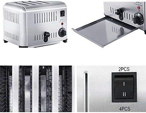 WYZQ Cuisinière électrique de Four d'acier Inoxydable de Grille-Pain de 4 tranches, Ensembles de Grille-Pain