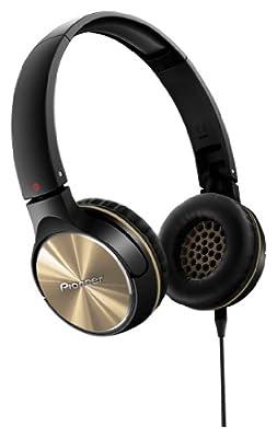 PIONEER Fully Enclosed Head Band Type Dynamic Headphones SE-MJ542-N (Gold)