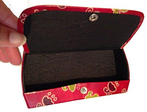 Boîte Lunettes en cuir style peint à la main avec motif original