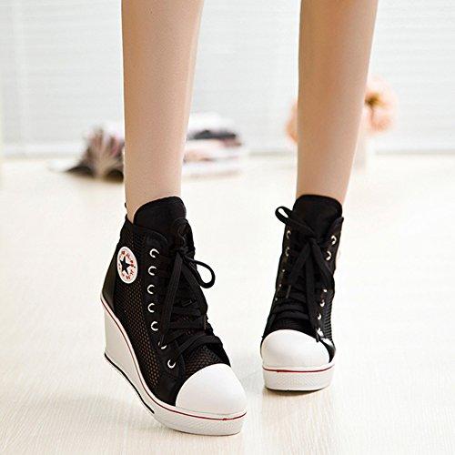 Baskets Mode 3 Noir Kivors Femme Pour xHYdq5wT