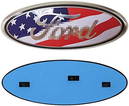 SUJWEL for F150 Ford Front Grille Tailgate Emblem,Oval 9X3.5 American Flag Emblem Decal Badge Nameplate Also Fits for 04-14 F250 F350,11-14 Edge,11-16 Explorer,06-11 Ranger