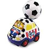 Vtech Toot-Toot Drivers Football Car, Baby Toy Includes 3 Songs and 6 Lively Melodies and Light-up Face Button