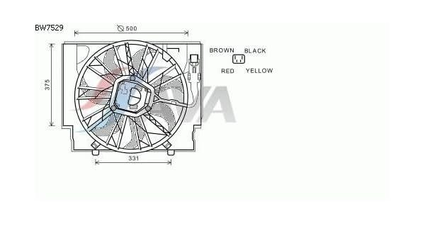 Ava Quality Cooling bw7529 Ventilador, refrigeración del Motor ...