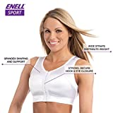 Enell Women's High Impact Sports Bra, White, 3