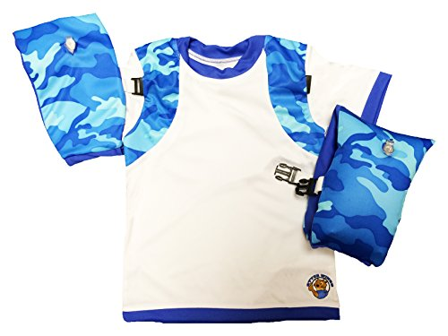 Otter Wings Kids Floaties (Water Wings) - Arm Bands / UPF 50+ Swim Shirt Combo Kids Floatation Device