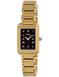 Fendi Women's F701421000 Classico Rect Analog Display Swiss Quartz Gold Watch