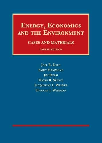 Books : Energy, Economics and the Environment (University Casebook Series)