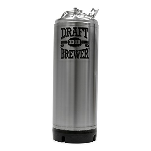 Draft Brewer New 5 Gallon Stainless Steel Ball Lock Homebrewing Keg With Pressure Relief Valve For Home Brew Beer ()
