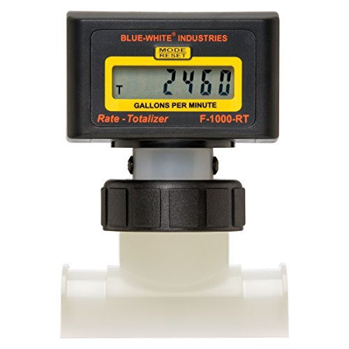 1.5 Inch Electronic Digital Pool Flow Meter - 15-150 gpm by Blue-White Ind.