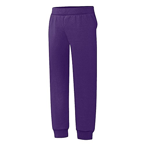 Hanes Big Girls' Comfortsoft Ecosmart Fleece Jogger Pants_Purple Thora_XL