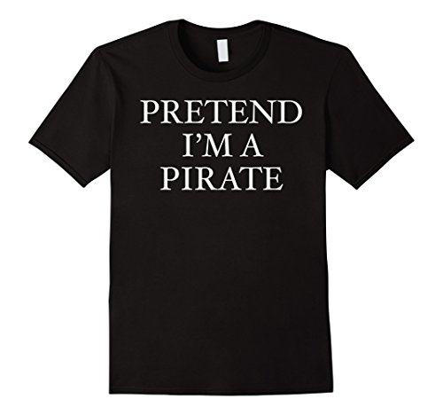 Mens Pirate Costume T shirt For last Minute Party XL -