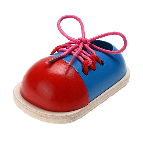 Teaching Tie Shoes - Children Toys, Amazingdeal Toddler Kids Wooden Lacing Shoes Early Teaching Tie Shoelaces Toys (1pcs)