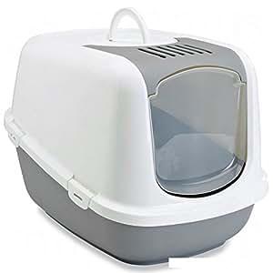 Wangado XXL-Utensilios para gatos de especies de talla muy grande con la parte frontal abatible para una limpieza fácil y rápida, con filtro de carbón activo medidas: el 66,5 H x 48,5 x 46,5 cm