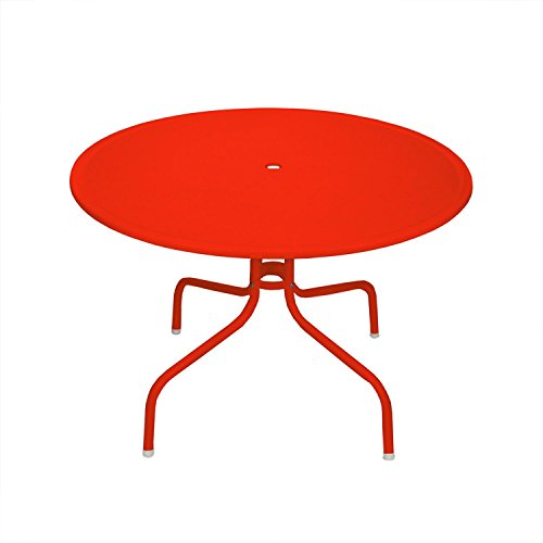 Northlight 39.25'' Red Retro Metal Tulip Outdoor Dining Table by Northlight