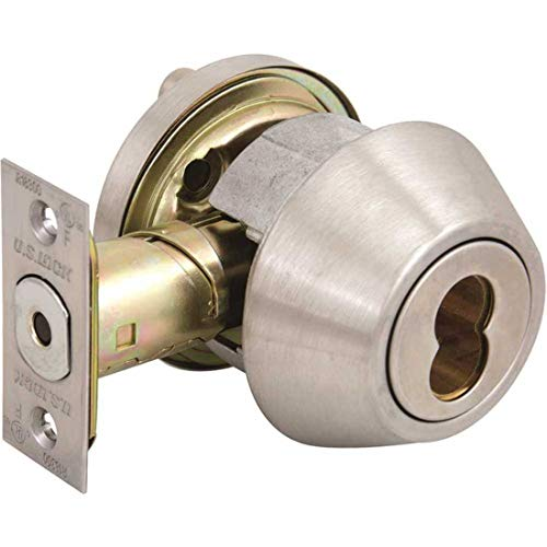 US Lock USX1604SIC32D 1600 Series Grade-2 US32D Brushed Stainless Single-Cylinder IC Core Deadbolt