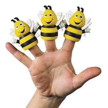 Bee Finger Puppet - Busy Bee Finger Puppets - Novelty Toys & Finger Puppets, 12 Count