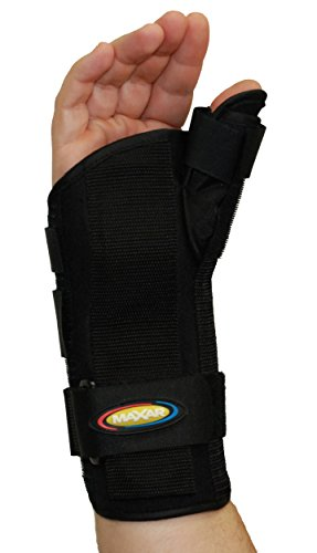 (MAXAR Wrist Splint with Abducted Thumb - Right Hand, Small )